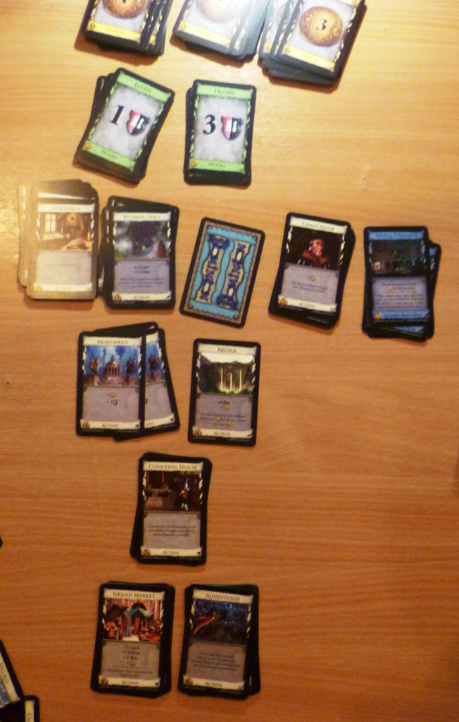 Dominion layout at end of game