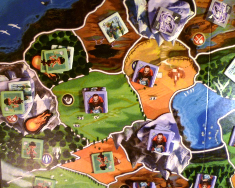 Small World - three of us played on the 2 player side - it was a very aggressive game but still worked quite well