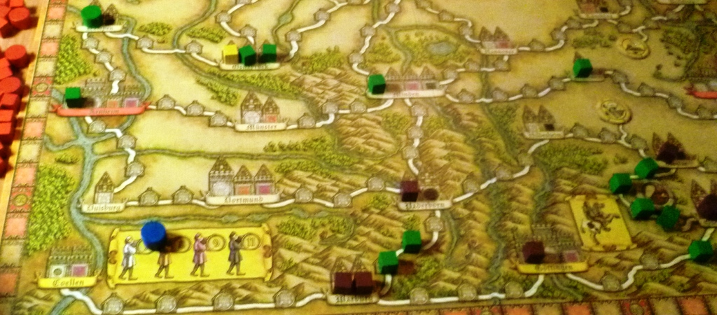 Hansa Teutonica - I played this for the first time this weekend and its a very interesting game with many different ways to collect the necessary victory points.