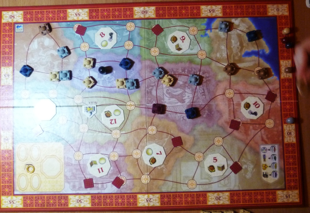 Taj Mahal board mid game