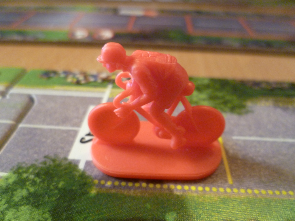 Flamme Rouge cyclist in rouge