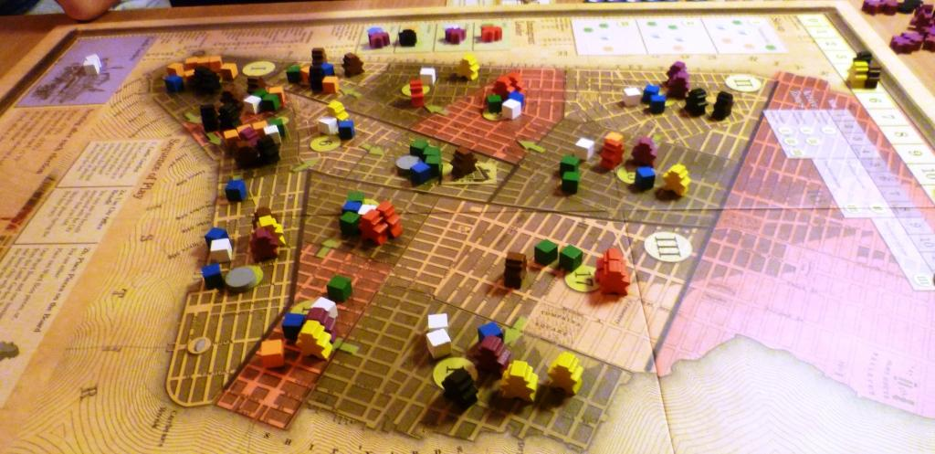 Tammany Hall, The nearest ward is being contested by Yellow brown and Black, political favour chits will probably decide the result,