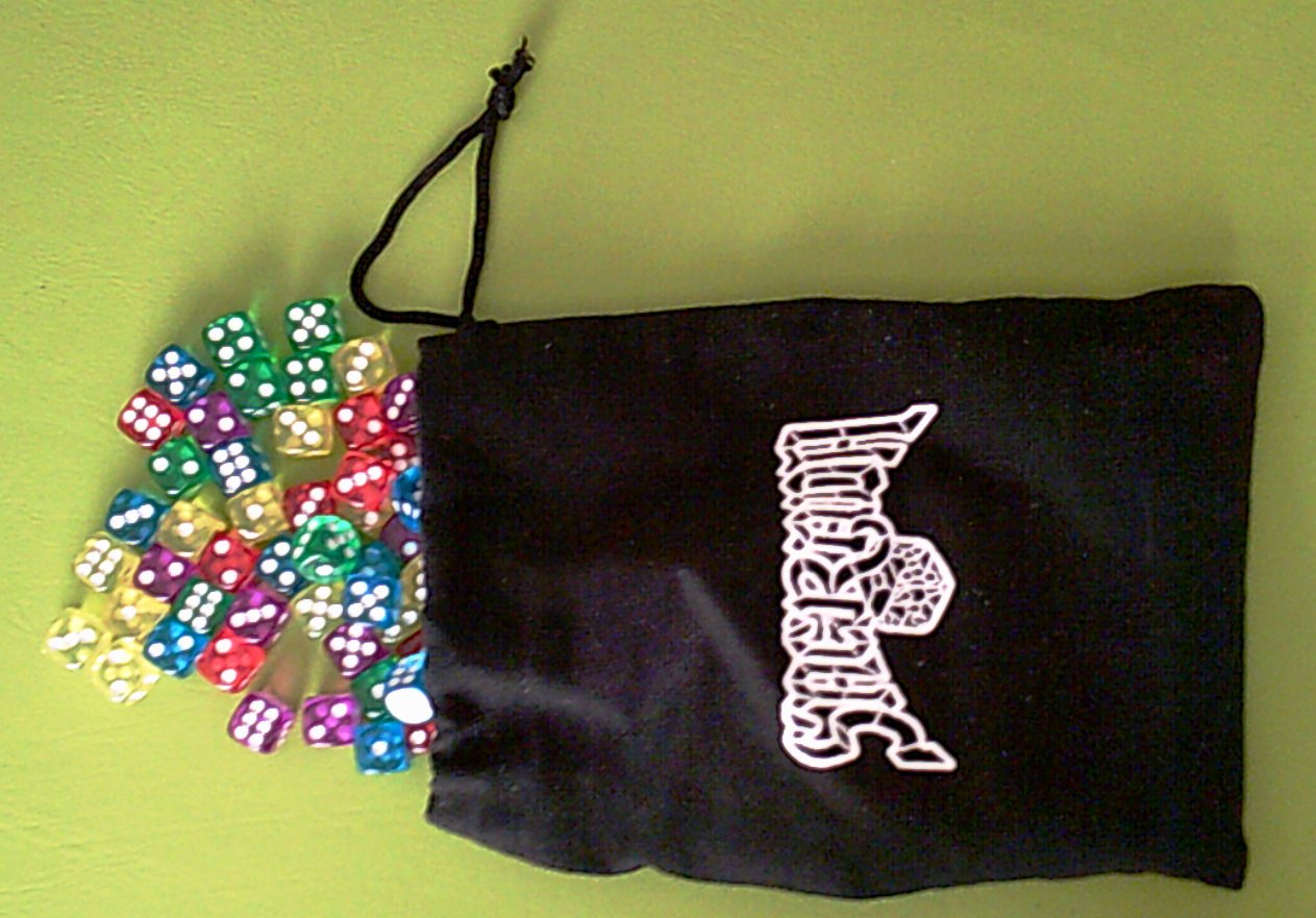 The bag with 90 dice