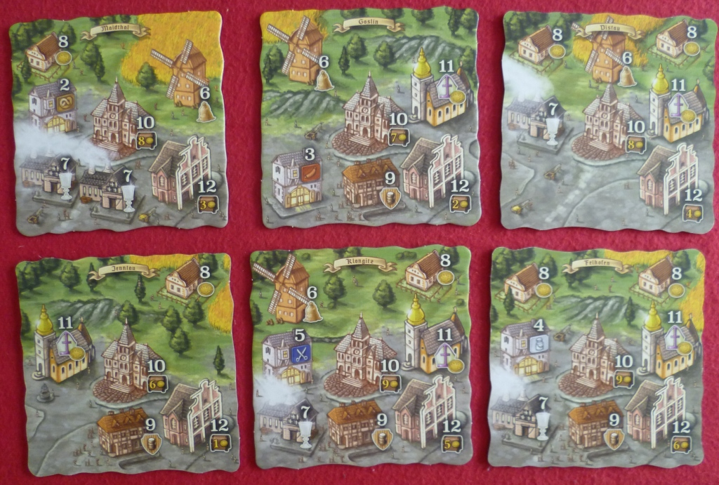 Library picture of some of the village tiles in Bohemian villages