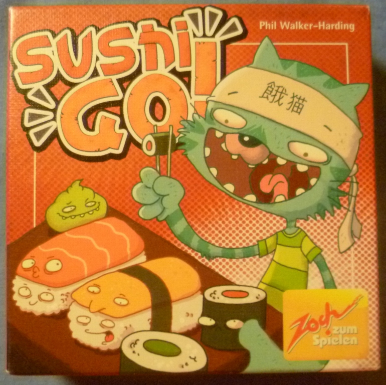 Sushi Go! The most played game at the club this year and all-time.