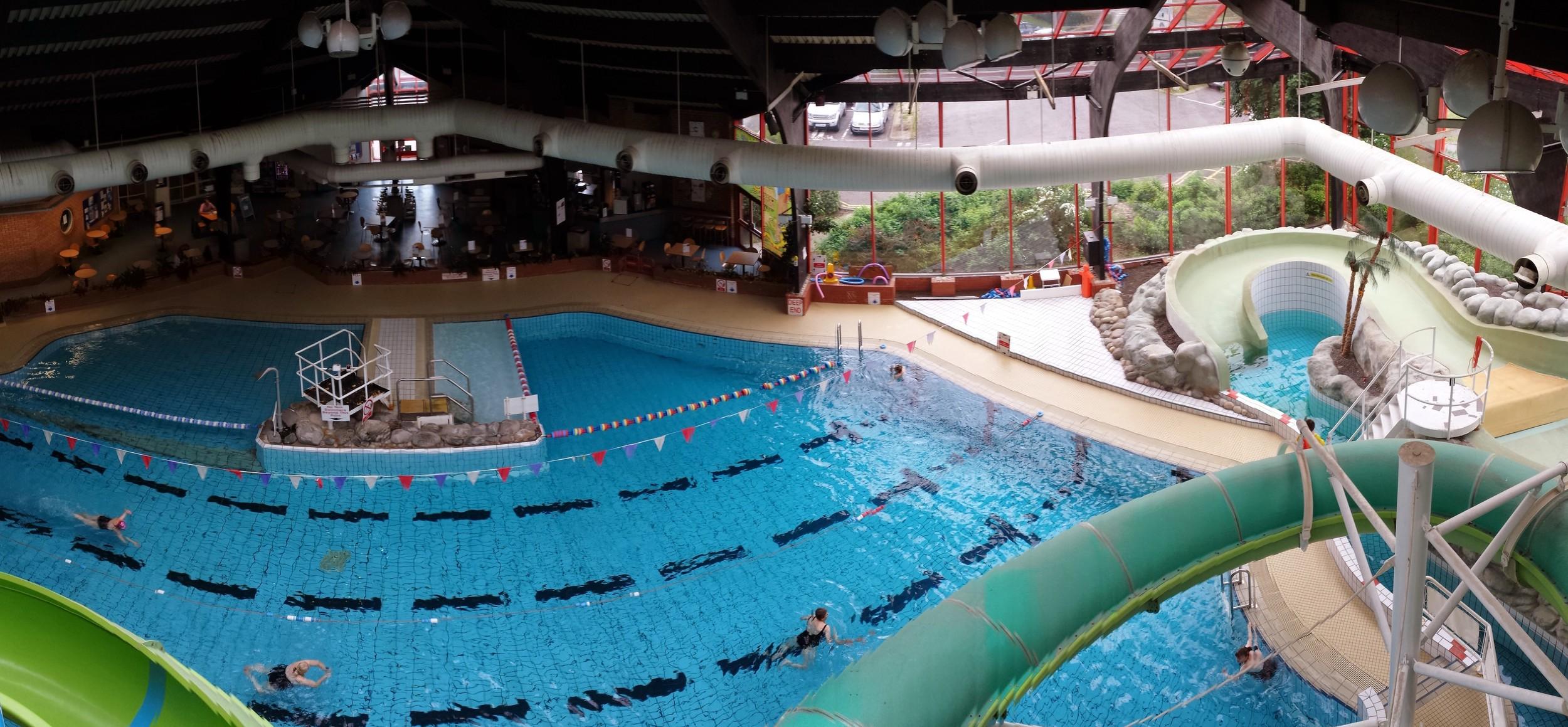 Pre-refurbishment and Poolview installation photograph