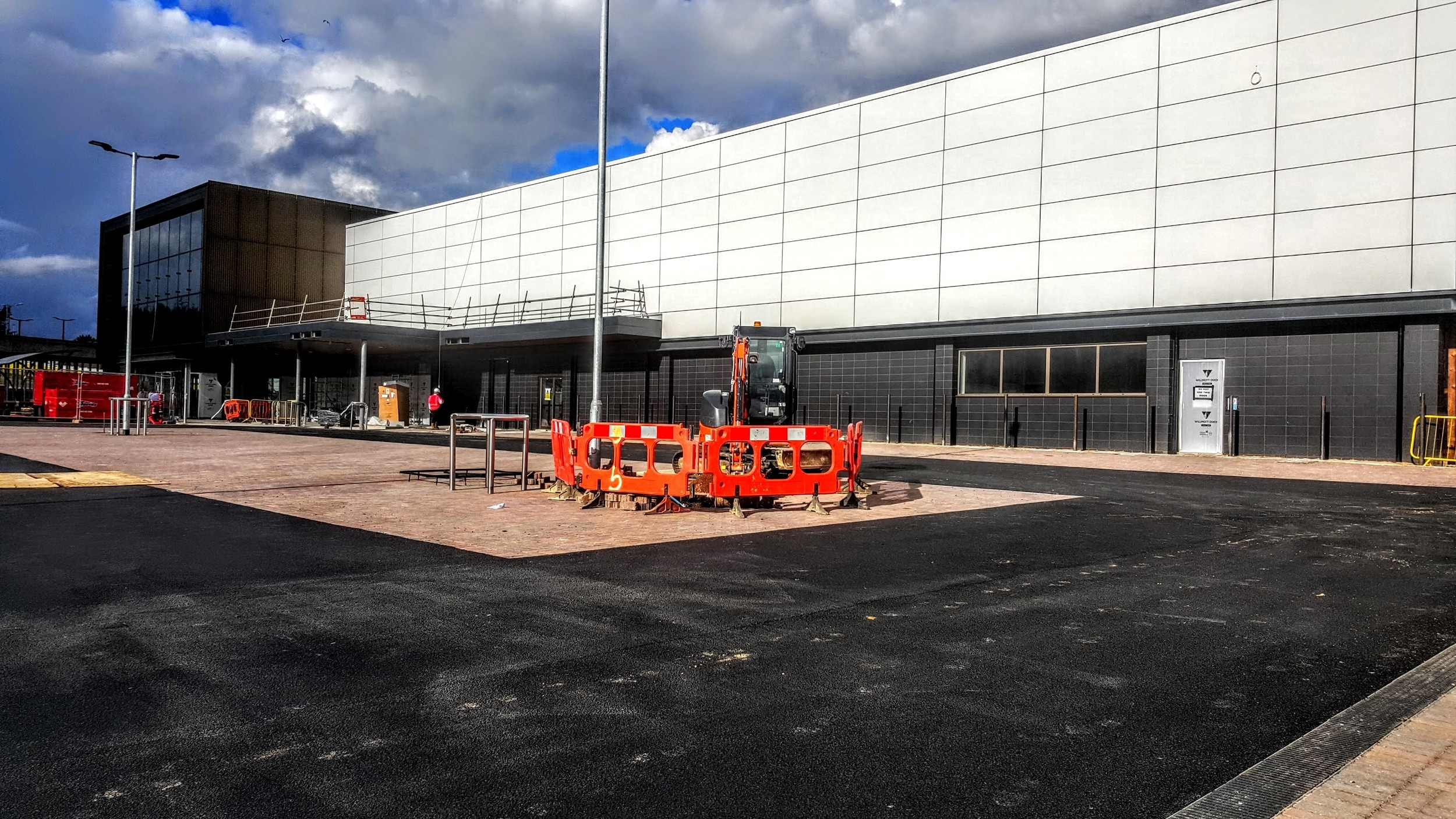 Carpark almost ready for visitors