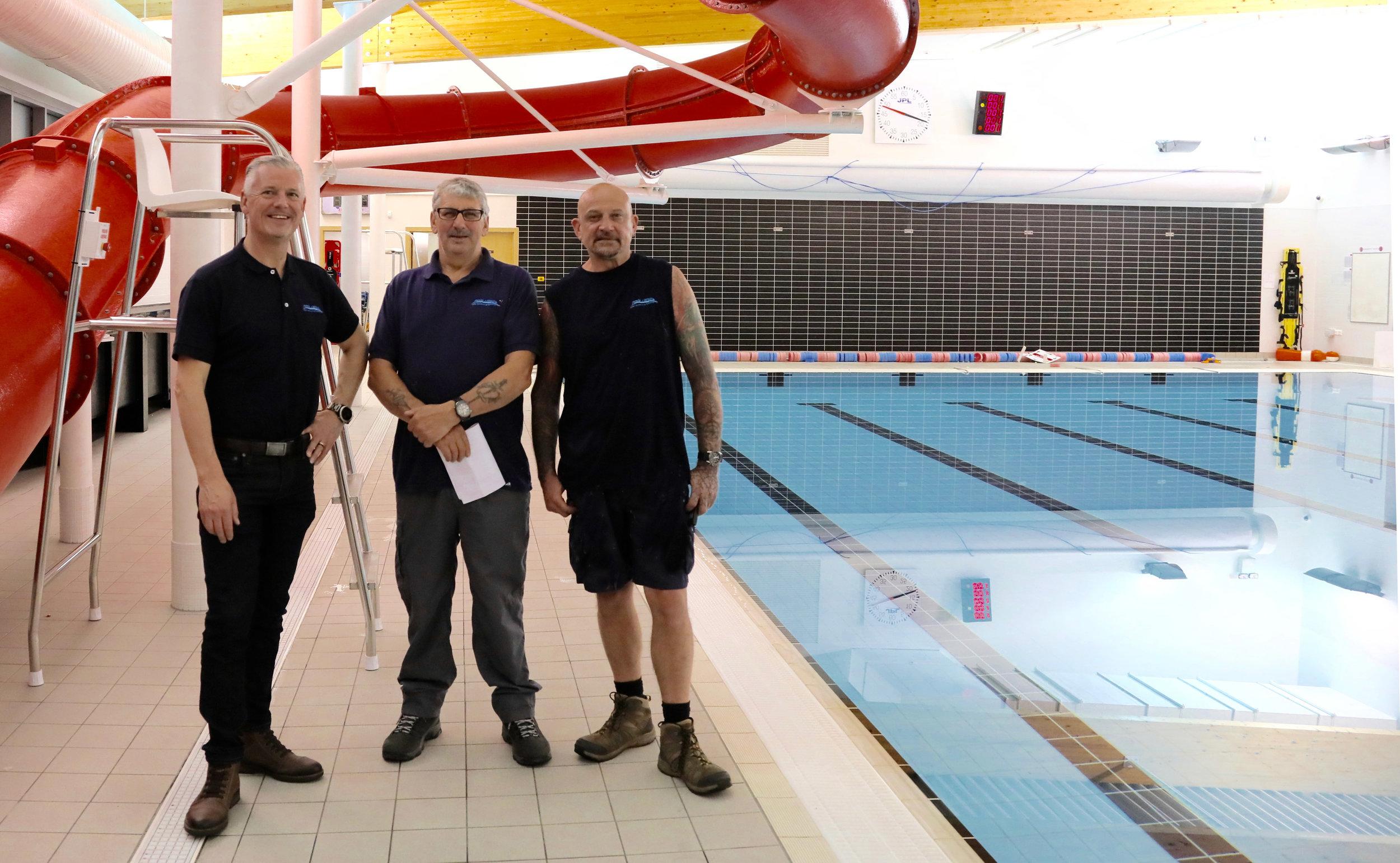 Robin McGloughlin, Andrew English and Wally Wallis