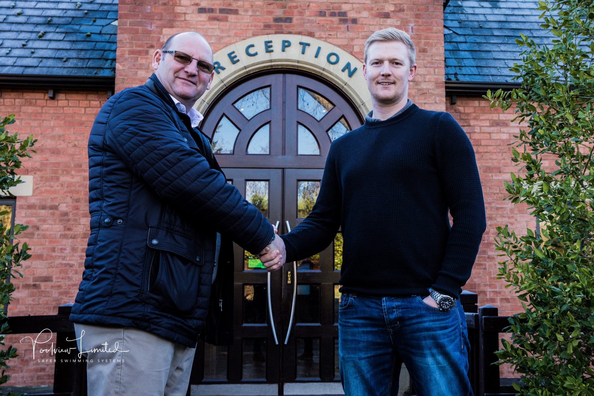 Managing Director Paul Brown welcomes our new Contracts Manager Daniel Collier to Poolview