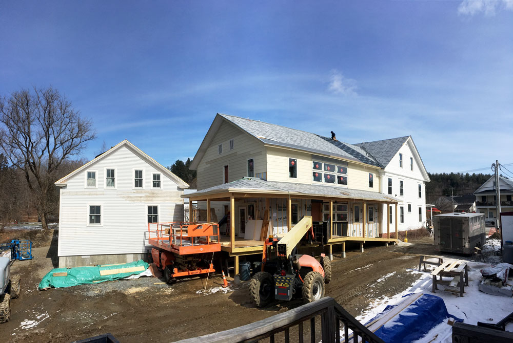 The Kowalsky Addition's roof is underway (photo courtesy Nicole Czapinski)