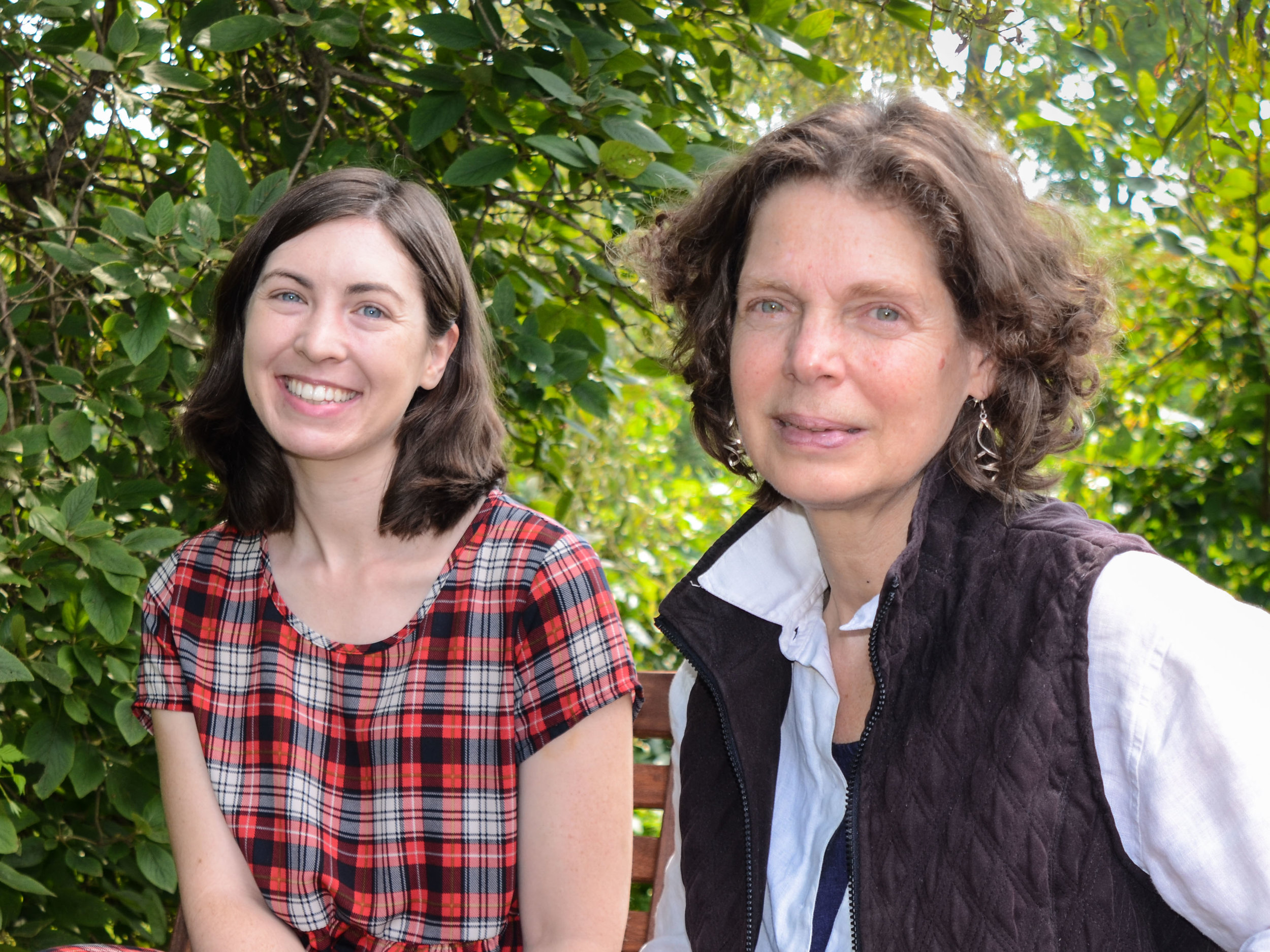Left to right: Writing Program Coordinator Staff-Artist Andrea Martin and Writing Program Manager Jody Gladding