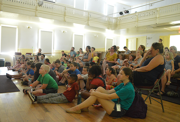 The Johnson Public Library arranged a special summer performance by Vermont's No Strings Marionette Company on Friday, July 19, in Vermont Studio Center's Lowe Lecture Hall in Johnson.