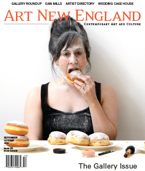Cover photo of  Art New England  September-October 2019:  Women Are Like That , 2014, video still by Rachelle Beaudoin. © 2019  Art New England