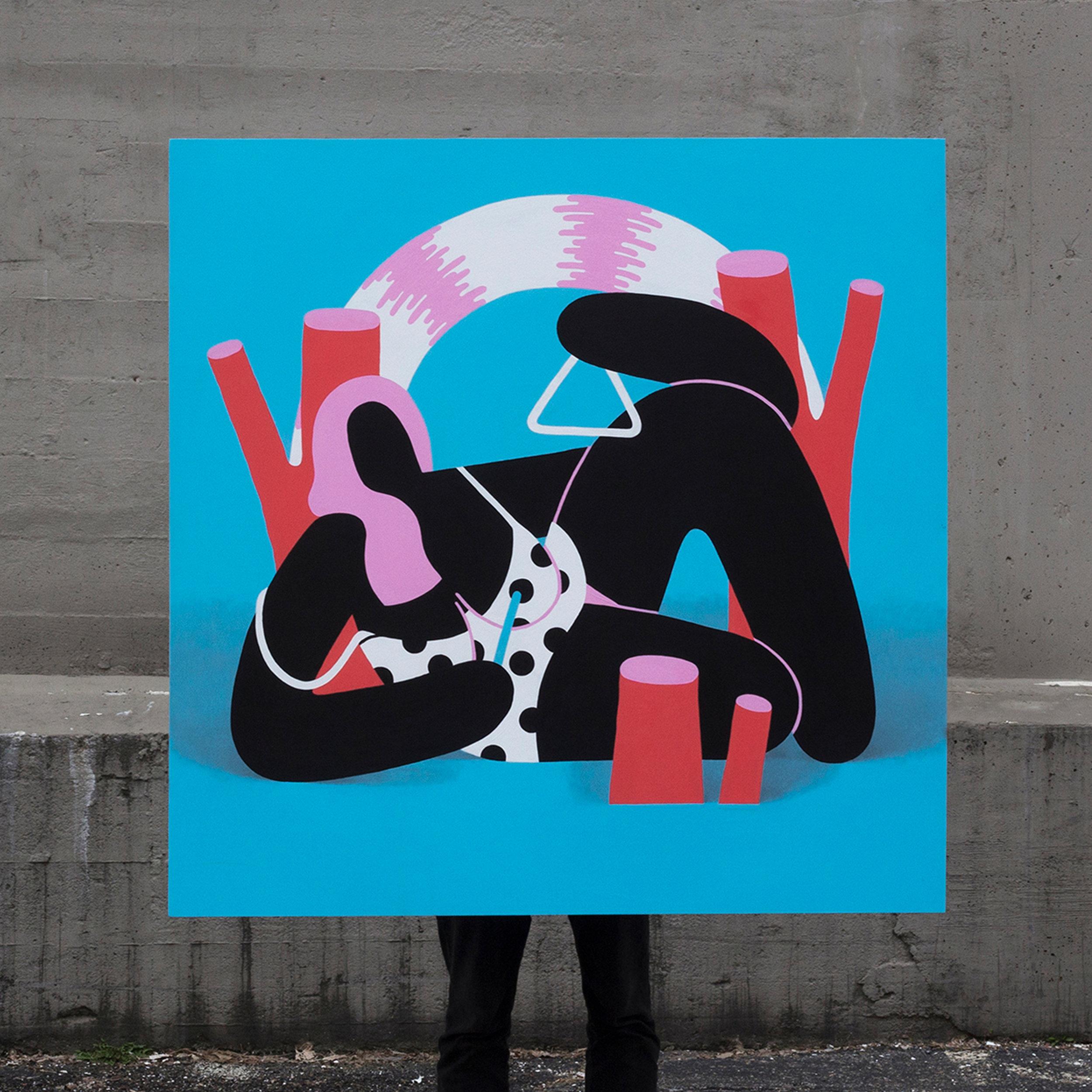 Moods - Acrylic on panel by Jackson Tupper