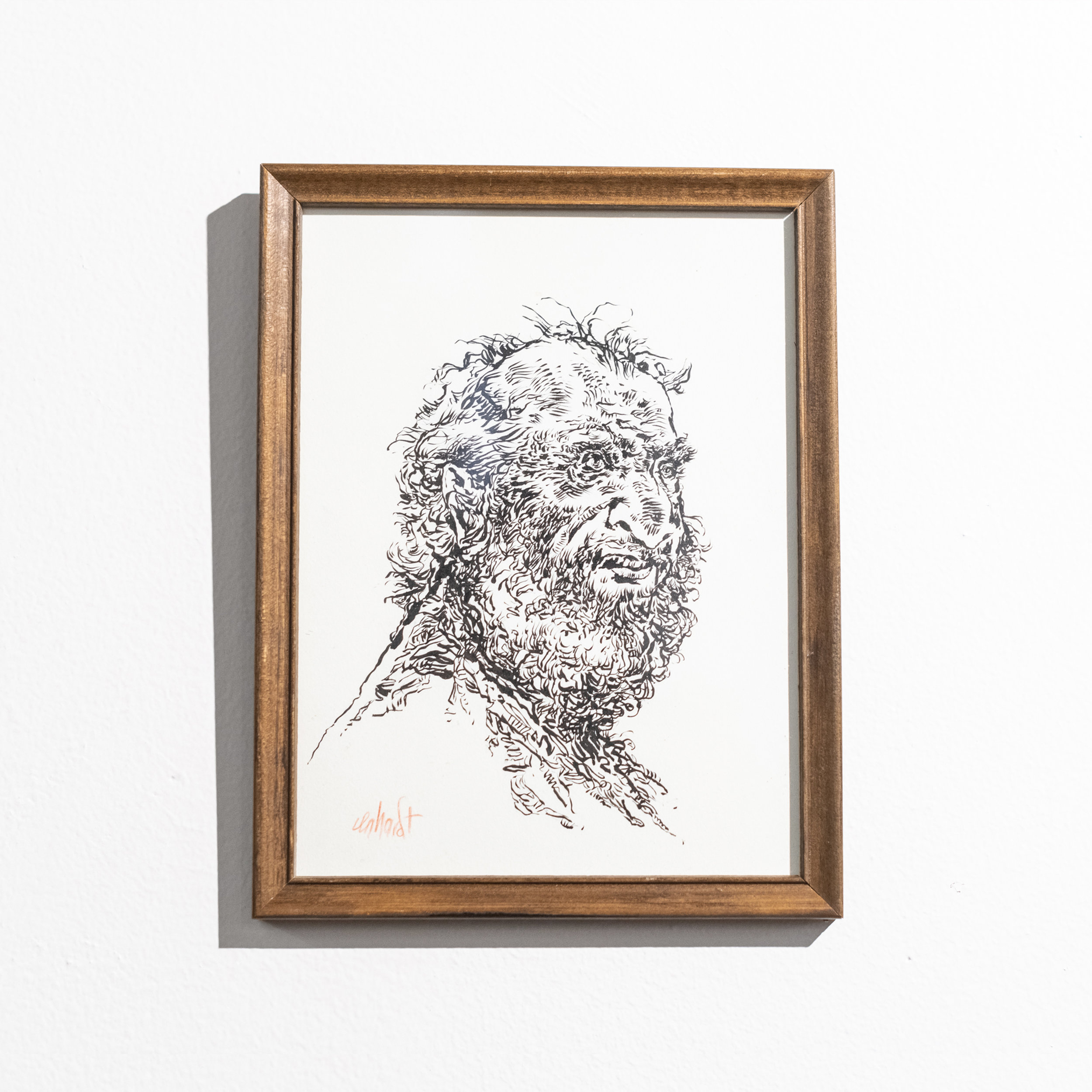 Raymond in Between - Ink on paper