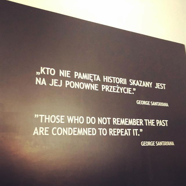 """""""Those who do not remember the past are condemned to repeat it."""" While in Krakow on a trip, I made a difficult but necessary visit to the Auschwitz camps. It's a poignant experience that changes you forever. #understandyourpast"""