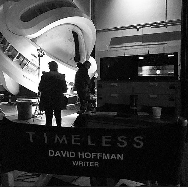 Super Bowl tonight, #timeless tomorrow! @davidchoffman's writing debut - don't forget to tune into NBC at 10pm 📽