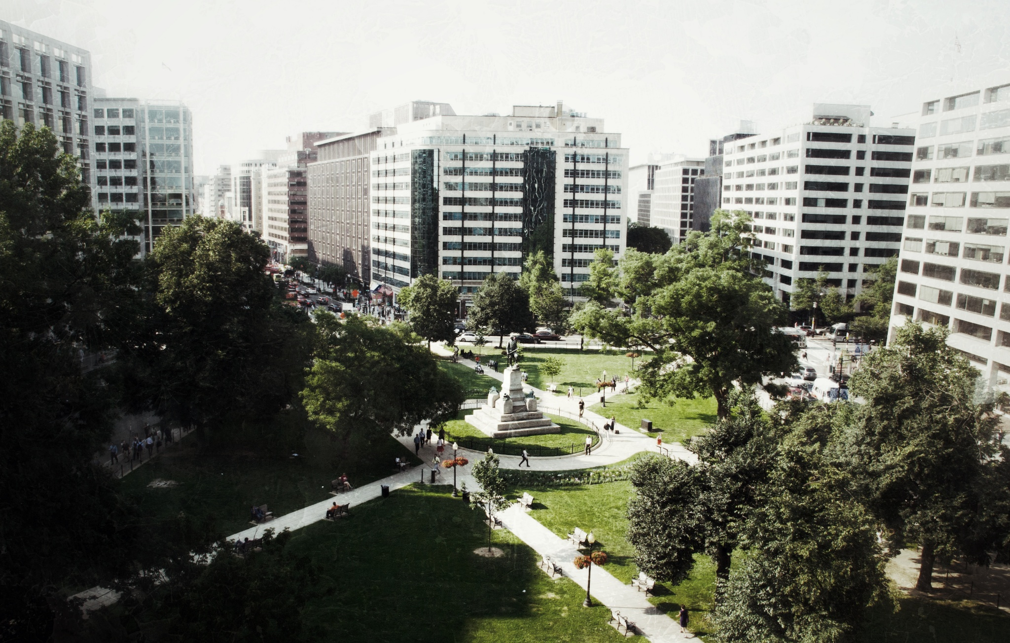 The view of Farragut Square from my office.