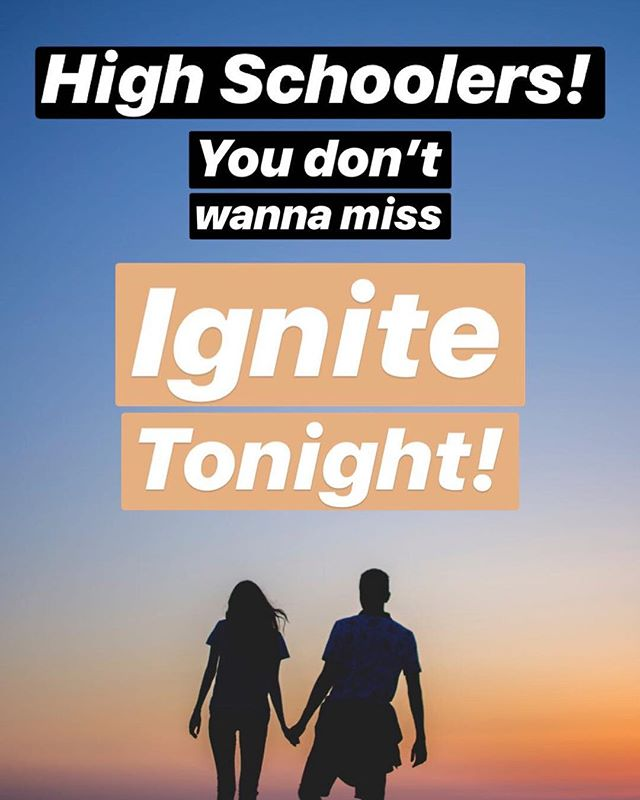 High Schoolers, don't miss out on tonight! 6:30-8:30