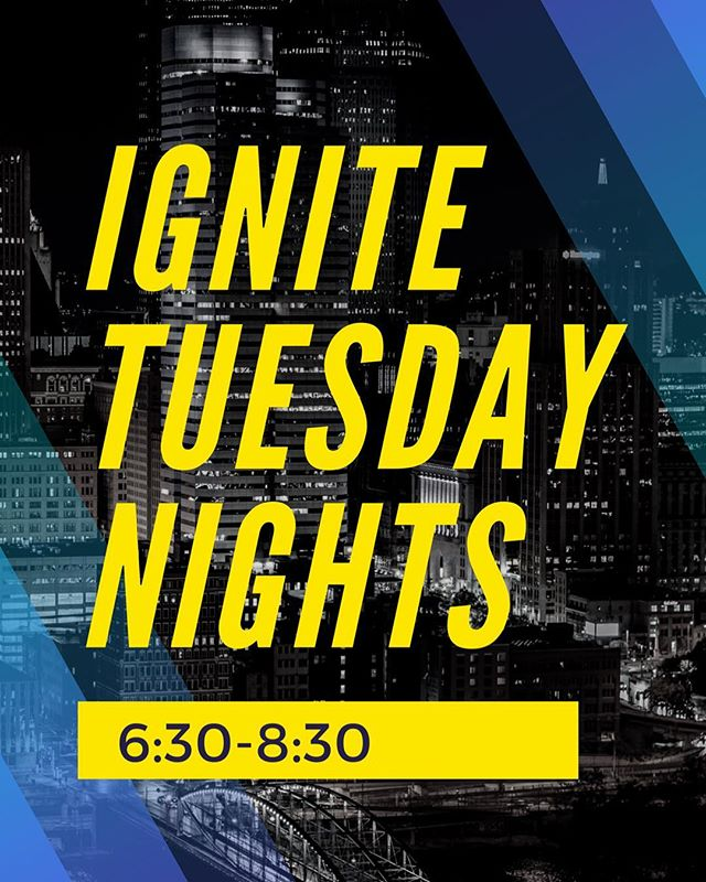 I know you missed us last week, but we're back!! Ignite tonight! 6:30-8:30. Can't wait to see you there!