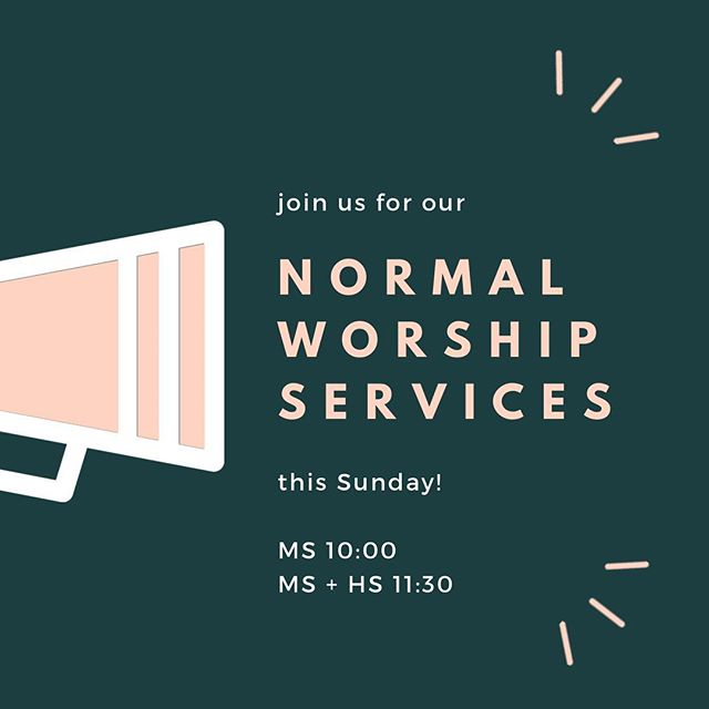 After a much needed Easter break from all of yinz (just kidding!) we're excited to worship together again on Sunday. See ya then!
