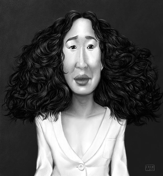 Starting a series of #AsianAmerican #Portraits with #SandraOh... even though she's Canadian-American. 😄 DM or comment with any ideas you might have. I'd love to hear which Asian public/historic/unheralded figures you find inspiring or fascinating. . . #celebrityportrait #artistdad #caricature #procreate #procreateart #digitalillustration #drawing #sketching #sketch #art #sketchoftheday #instaart #sketchbook #killingeve #hollywood #portraiture #illustration #digitalart #portraitsofasianamericans #bw #digitalpaint