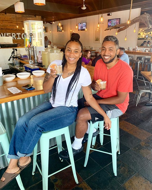 This is Akia and Mike's 3rd time celebrating #NationalTequilaDay at Mavericks 🎉🍹 We 💛 you guys as much as you 💛 Palomas!  #otpeats #otpguide #johnscreek