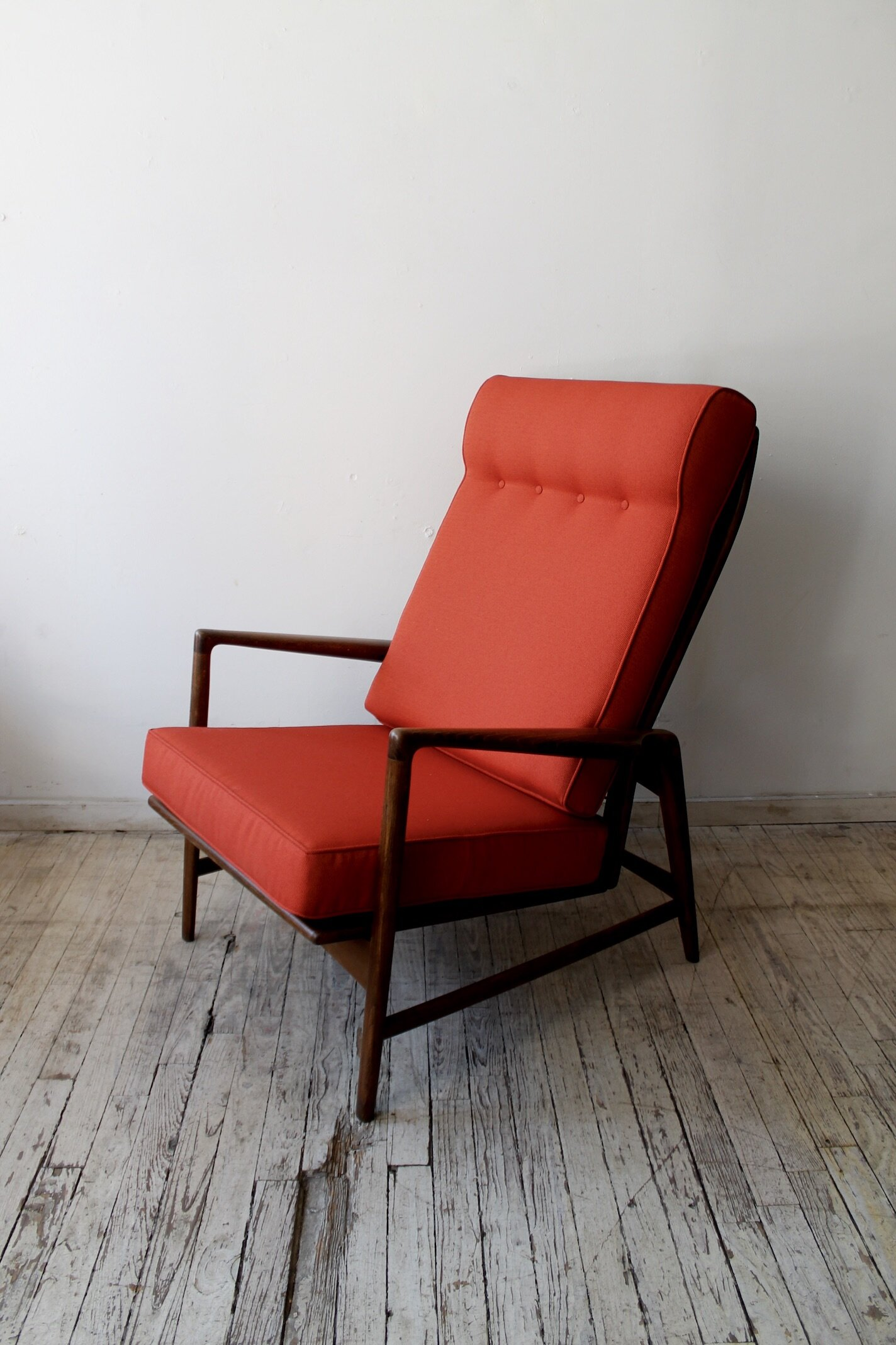 Vintage Mid Century Lounge Chair Red Cabin Modern Ny Furniture Textiles And Housewares Brooklyn Nyc