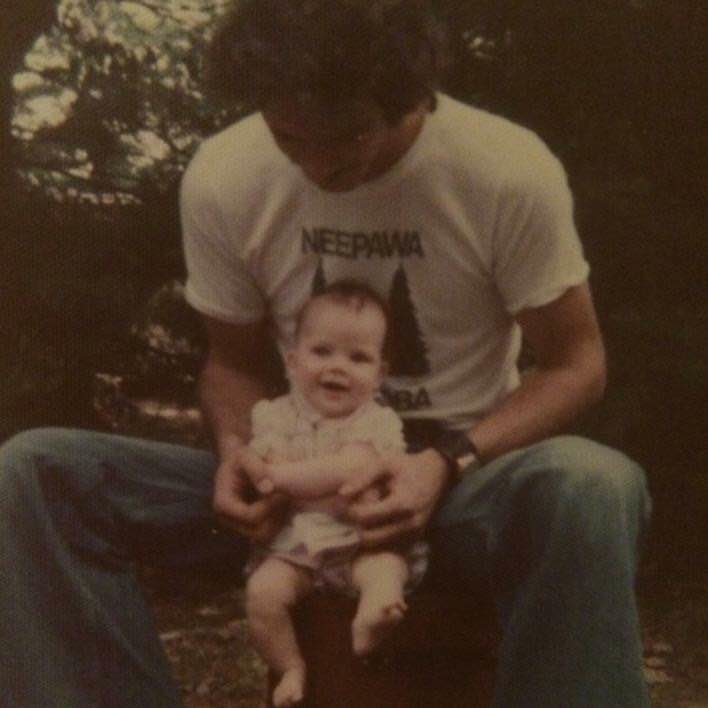 Me and my father, forever ago