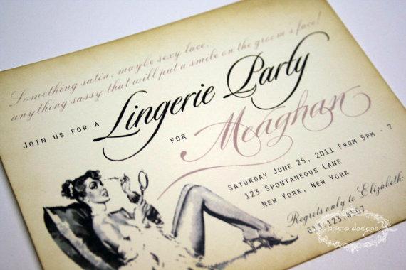 Lingerie Party Invitation