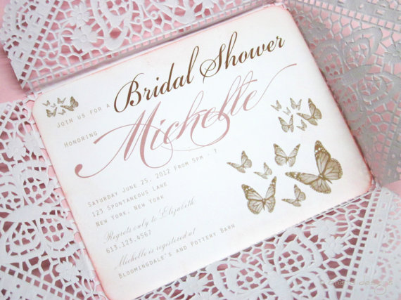 Butterfly Bridal Shower Invitation