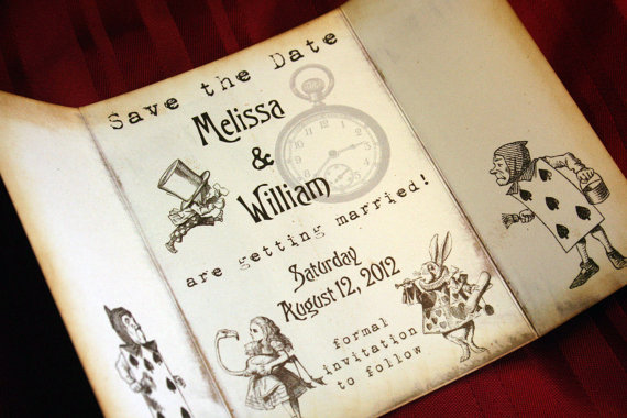 Alice in Wonderland Save the Date