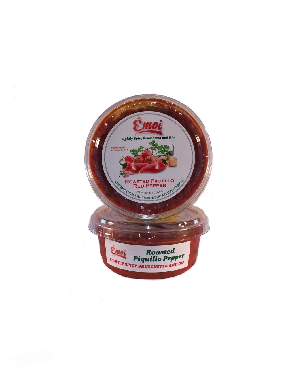 Lightly Spicy Piquillo Pepper Bruschetta & Dip