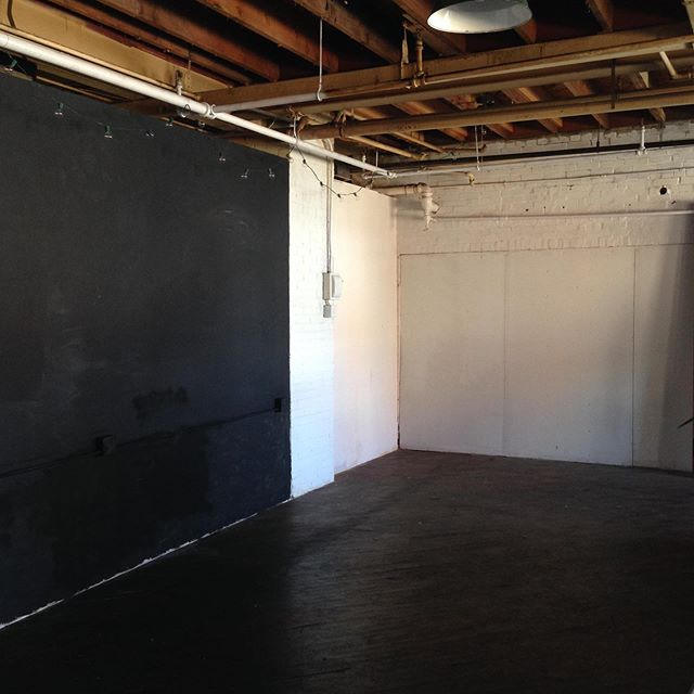 Remember when we still had the walls up?! Now we've busted them down we have double the space!
