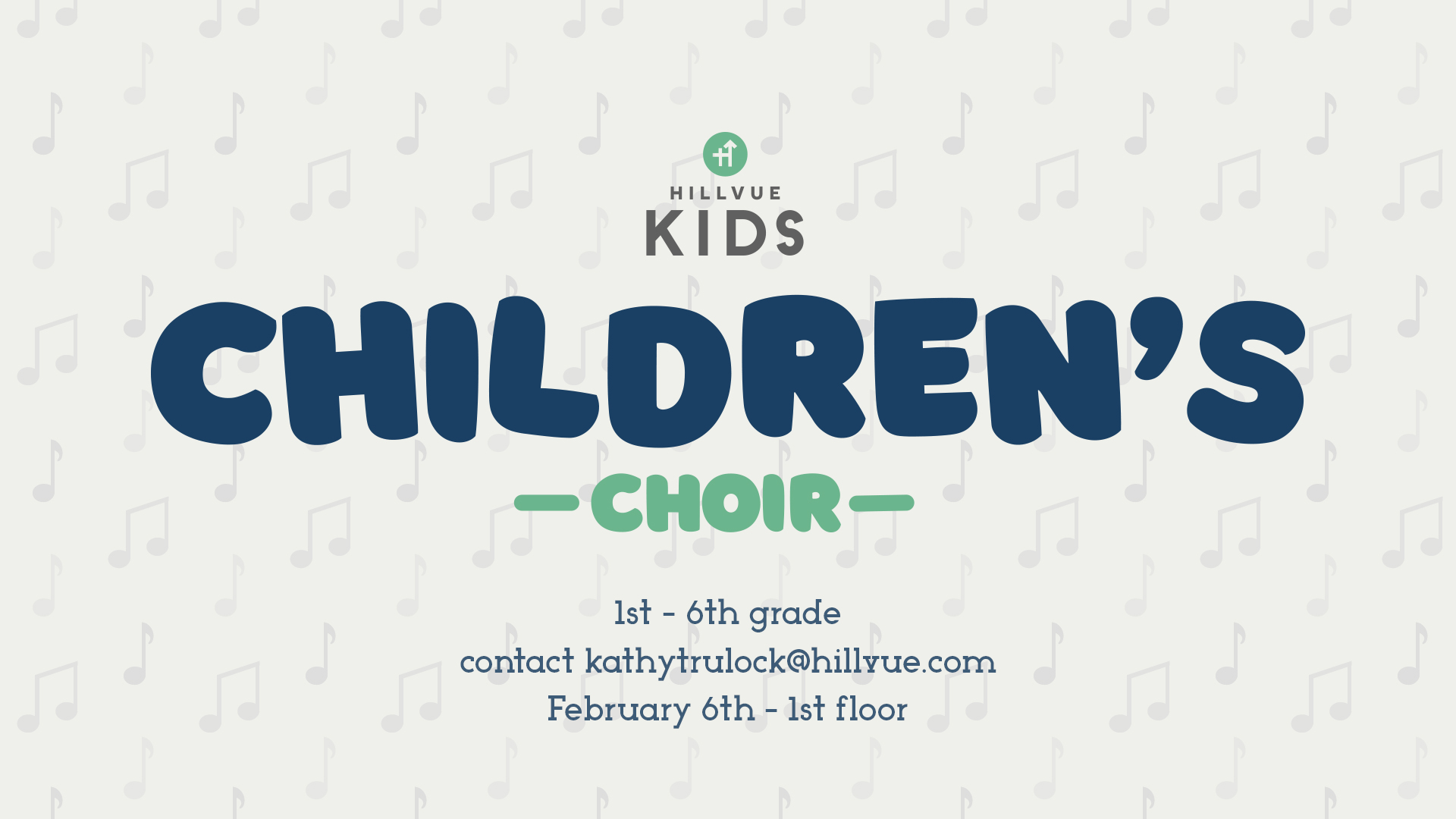 Contact Pastor Kathy Trulock to find out how your kids can be involved in Children's Choir.