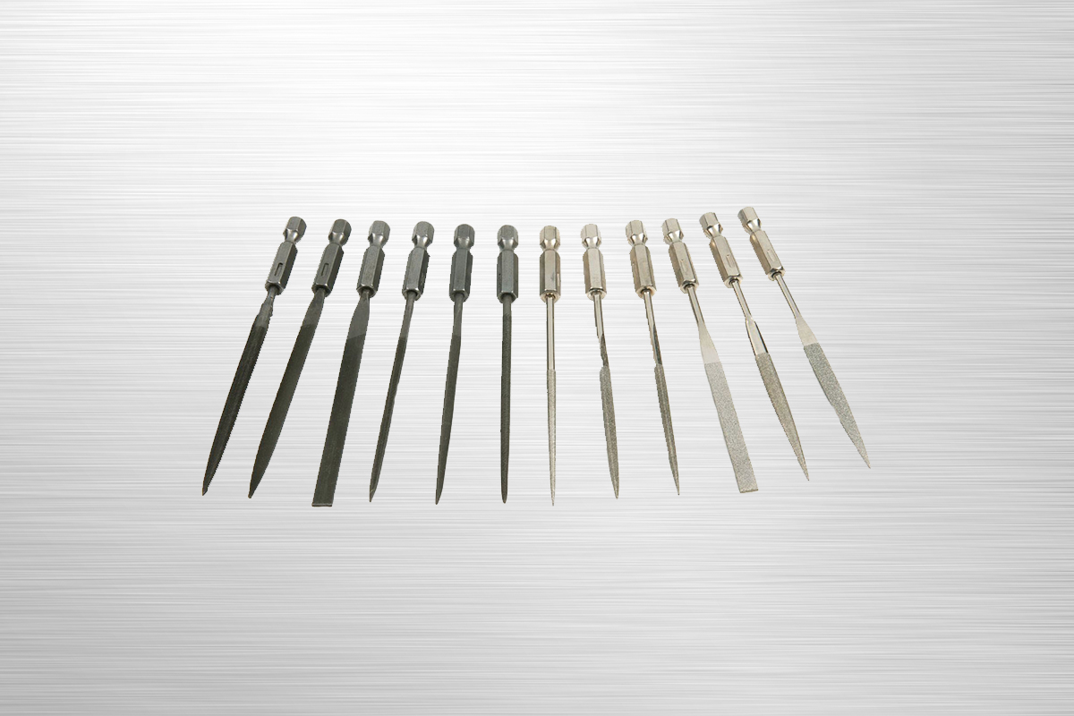 SpeedHex 12 pc SpeedHex Micro File Set    SH17   SpeedHex 12 piece micro file set contains both diamond and carbon micro files. This set is excellent for precision shaping and sharpening making it perfect for DIY or hobby projects.    Purchase on Amazon