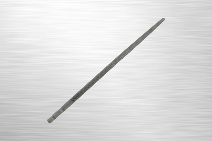 SpeedHex 10 inch Round File    SH10R    SpeedHex 10 inch round file is made of ANSI rated carbon steel. The 5/16 inch hex shank ends fit into multiple SpeedHex handles.    Purchase on Amazon