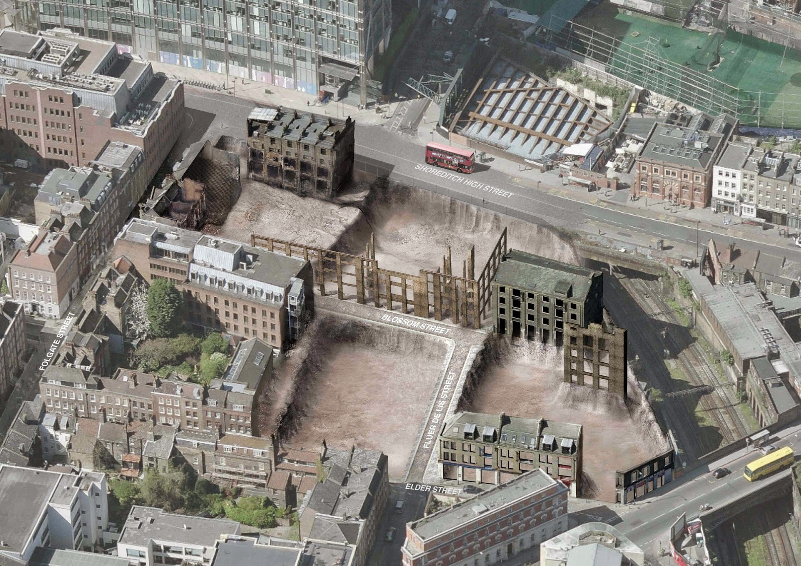 British Land want to remove over 70% of the fabric on their site in the Elder St Conservation Area