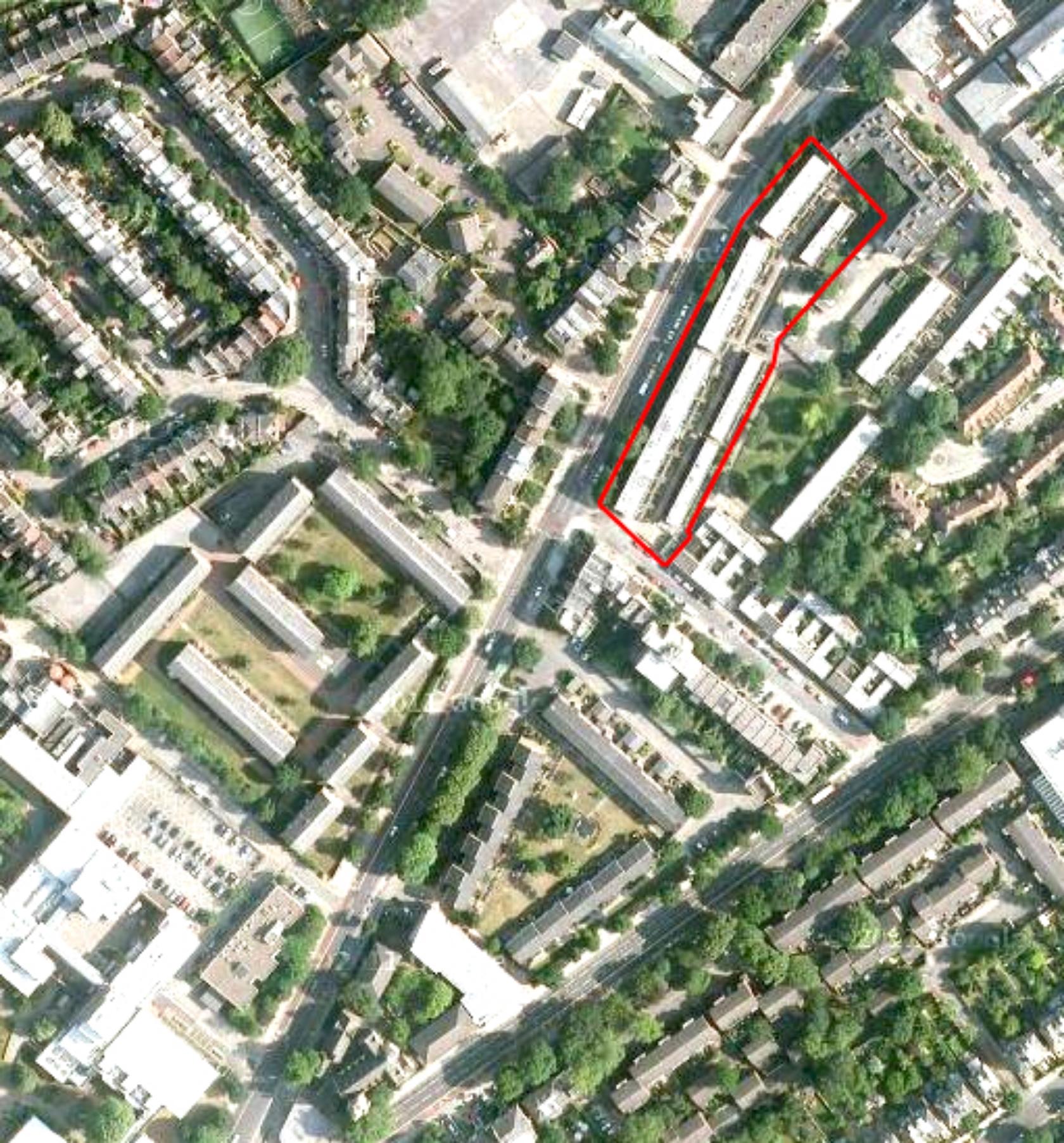 Site location - Parkhurst Road, Islington