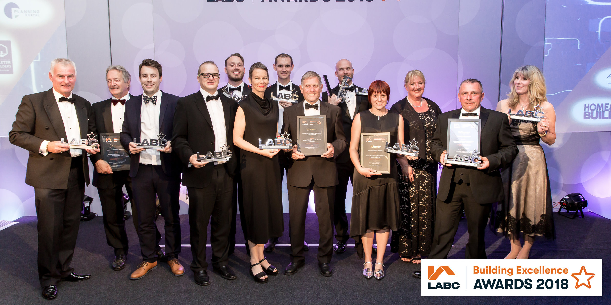 Carmen Slijpen (centre), Director & Programmer at Lewes Depot with the other winners