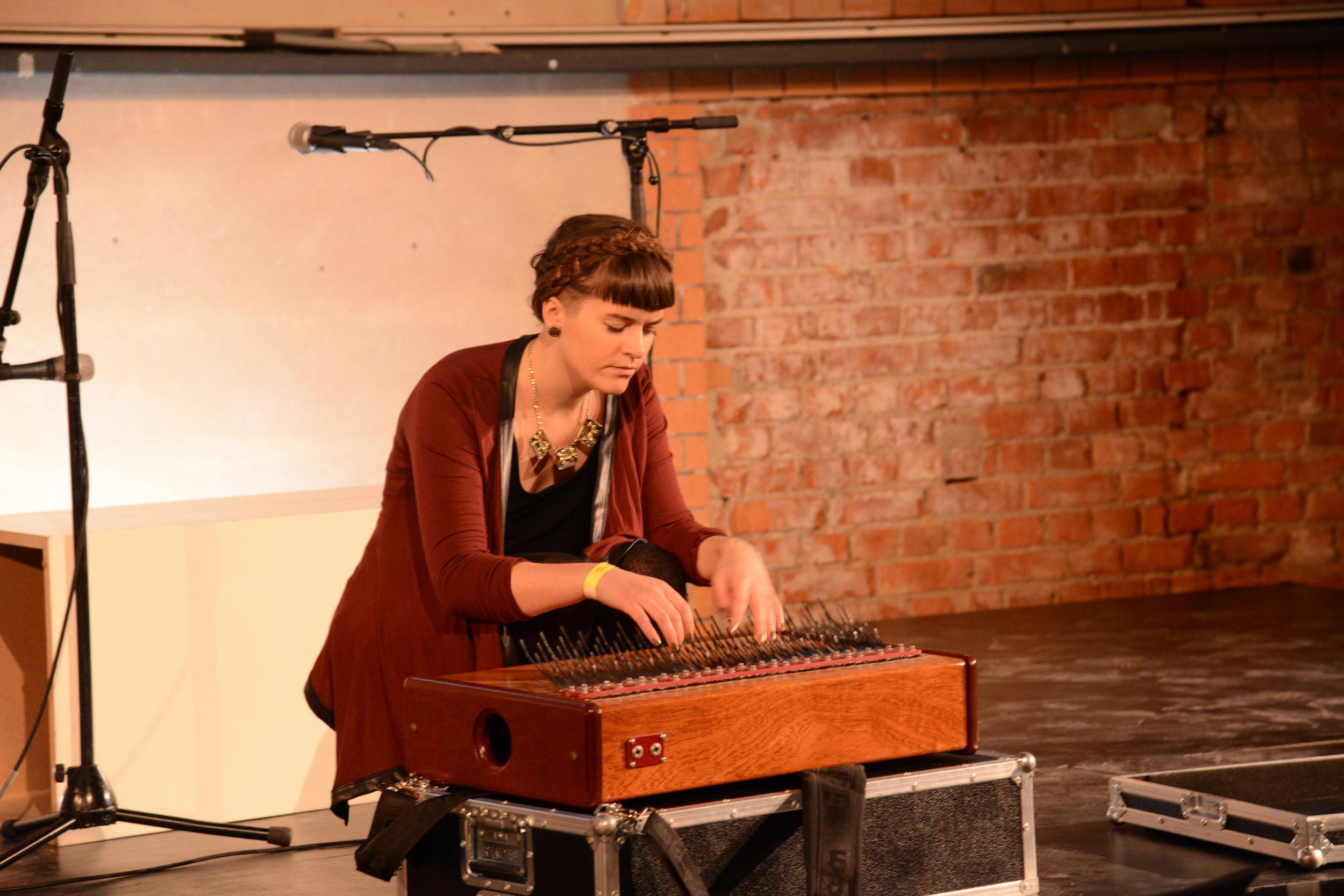 Photo by  Kim Grønneberg - Live performance at Pecha Kucha Vol 29 - 05.12.13