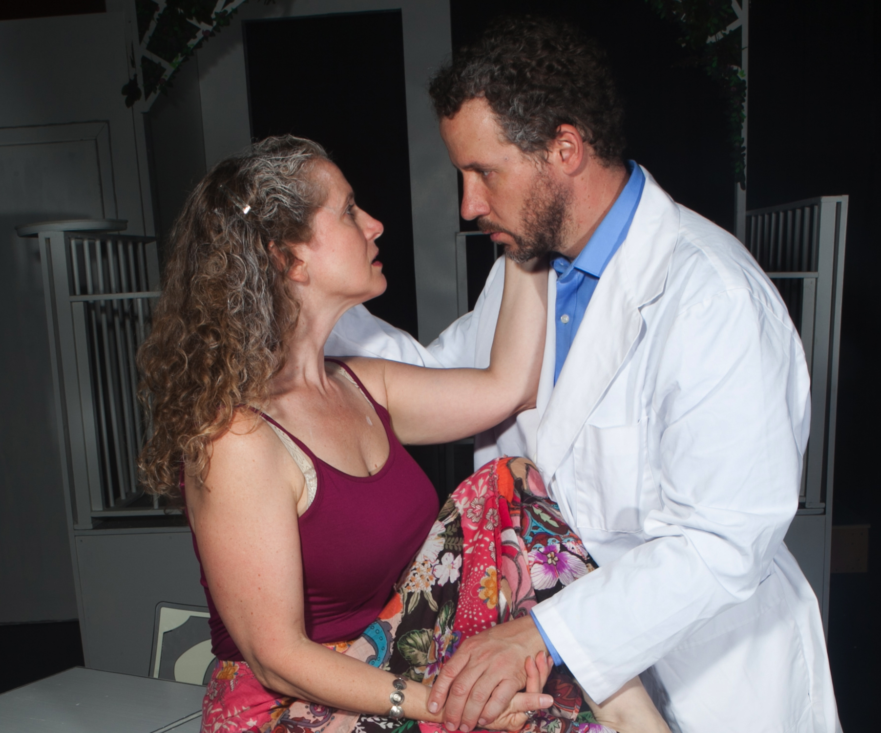 Laura Sturm (Ana) and Joe McCauley (Charles)