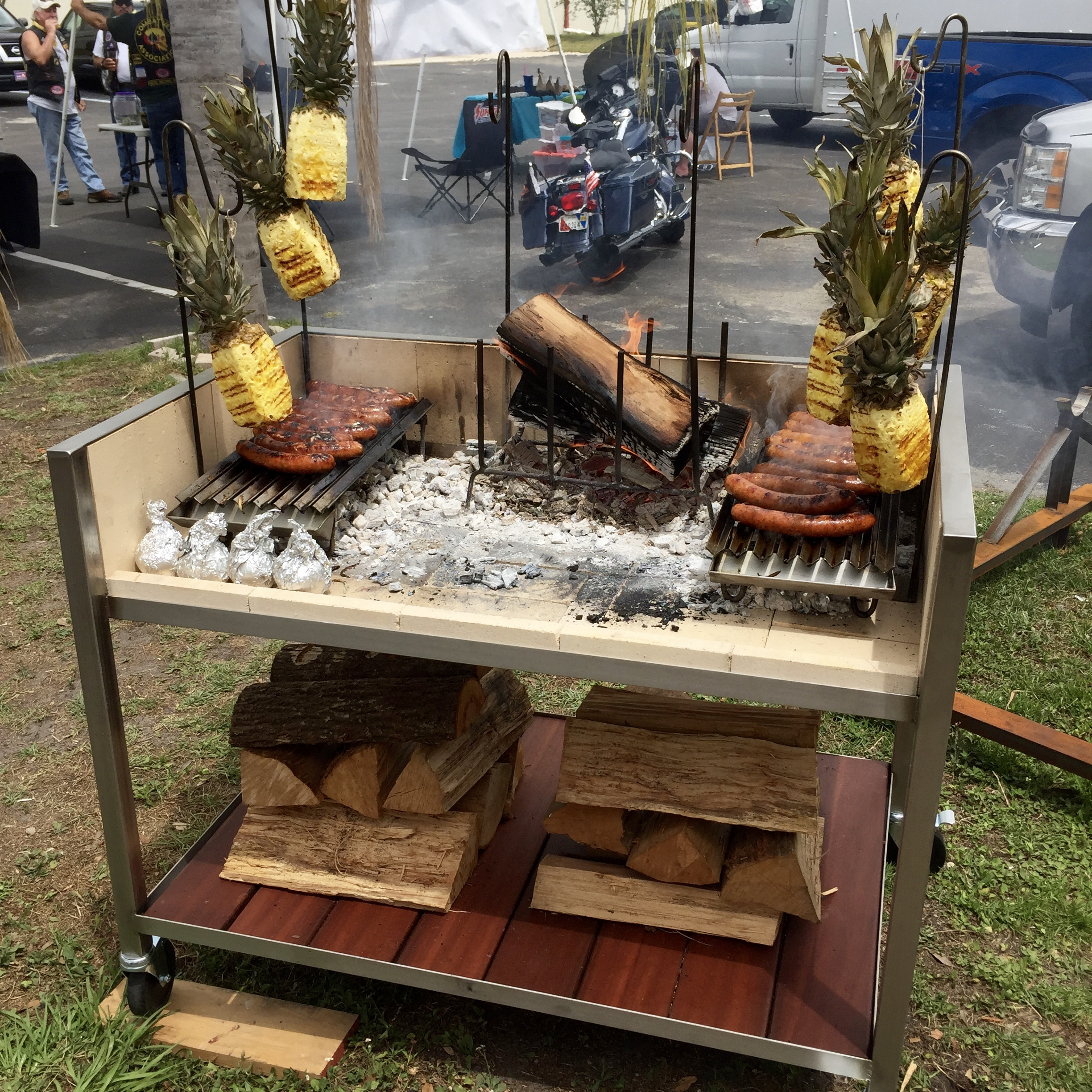 Urban Asado® out grilling for the Latin American Motorcycle Association.
