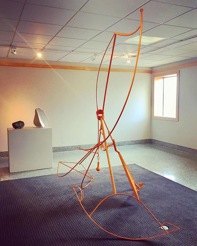 "Hey Friends! Last chance: Please consider voting for my sculpture ""Lift"" by tomorrow, April 30th. Link to vote is in my bio. Thanks for the support. 🍊🔶🧡#sculpture #steelsculpture #publicsculpture #publicart #brittanysondberg #ncartist #womensculptors #tristatesculptors"