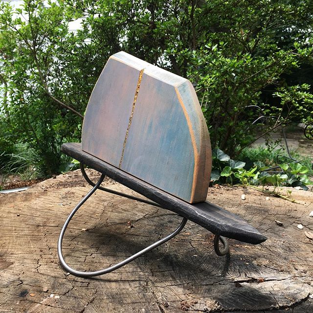 New, smaller, stuff in the works. #woodsculpture #woodandsteel #sculpture #contemporarysculpture #contemporaryart #brittanysondberg #smallsculpture #abstractart #artistsoninstagram #femaleartist #abstractsculpture