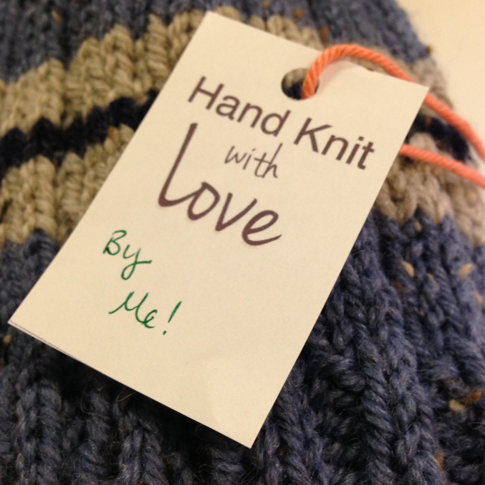 Found these cute labels at  Nice & Knit