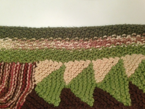 A little pooling on this border between the green sections. This I can live with.