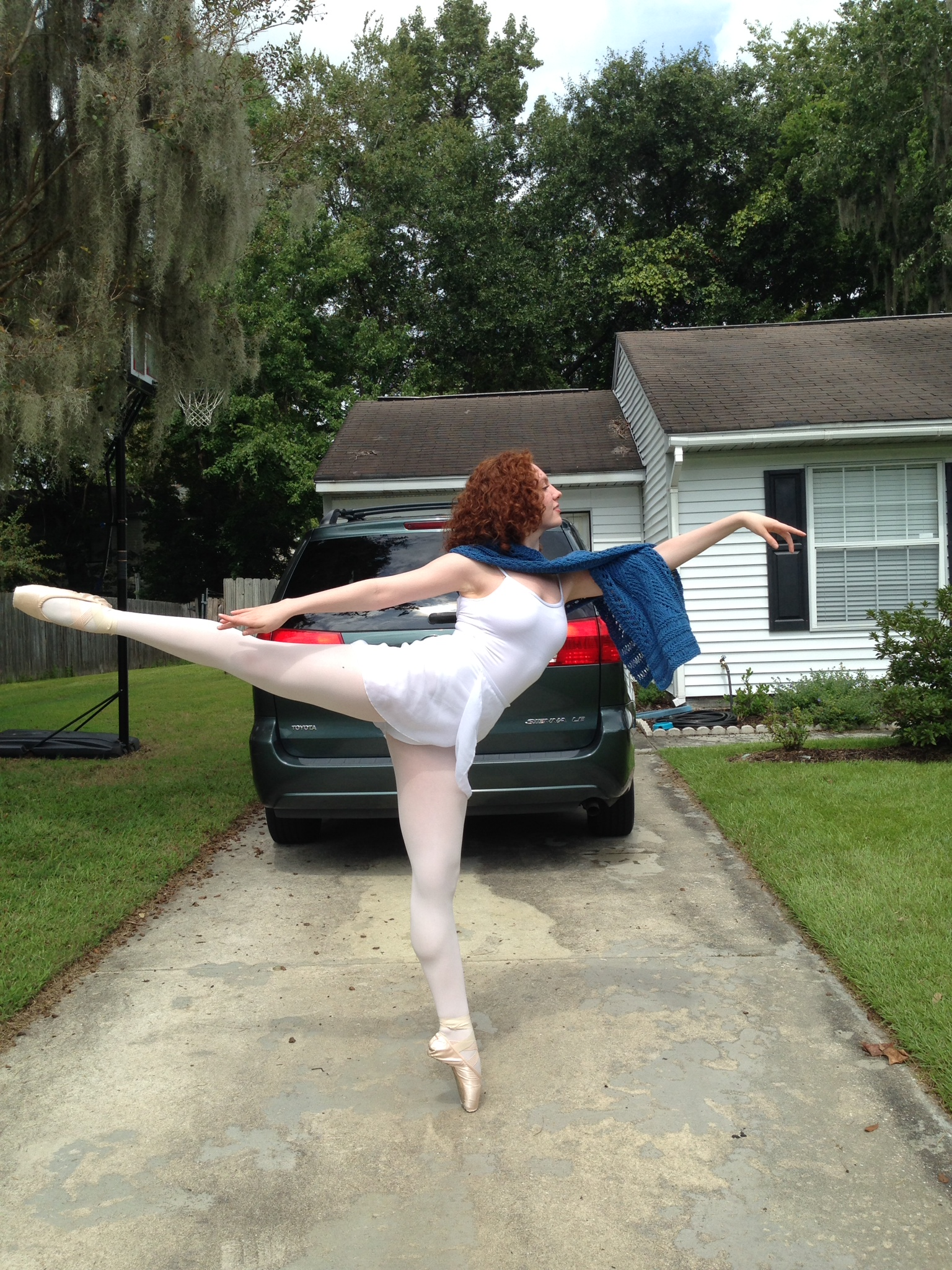 It helps to have a model who is studying to be a professional dancer...