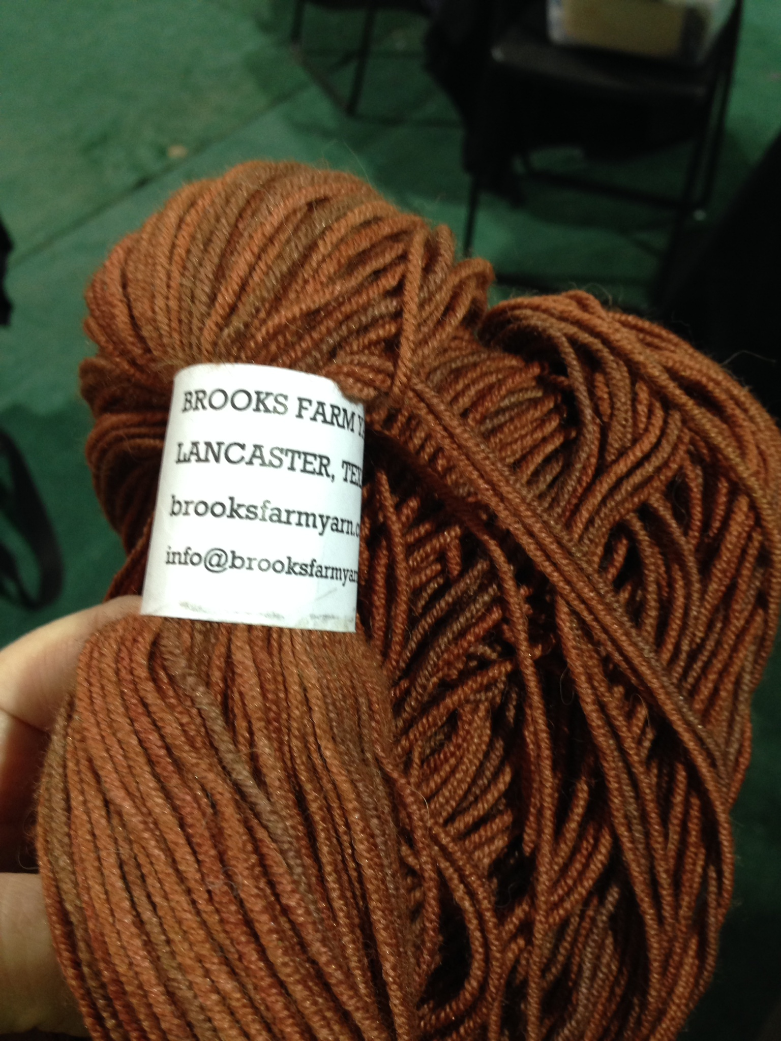 Brooks Farm Trio. Beautiful yarn--this will grow up to be an amazing new design!