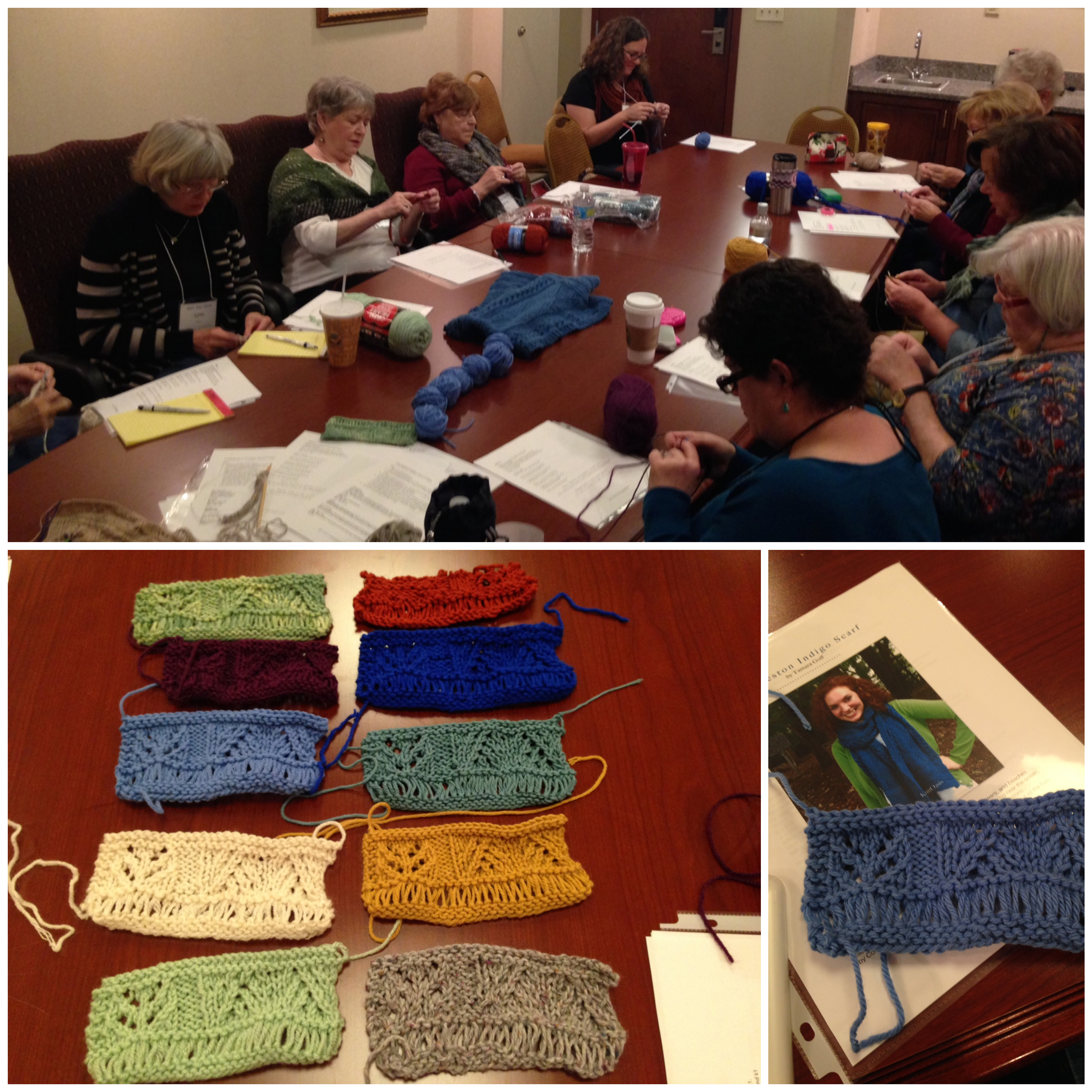 Charleston Scarf class and their great swatches!